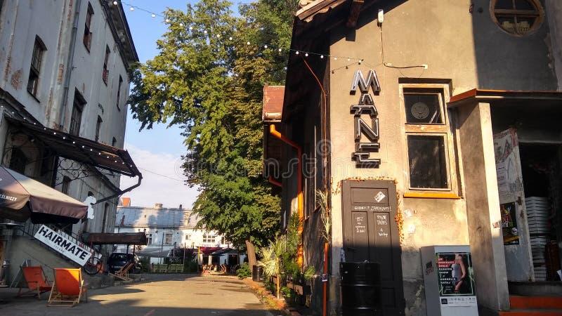 Aleja w Krakà ³ w Polska zdjęcie stock