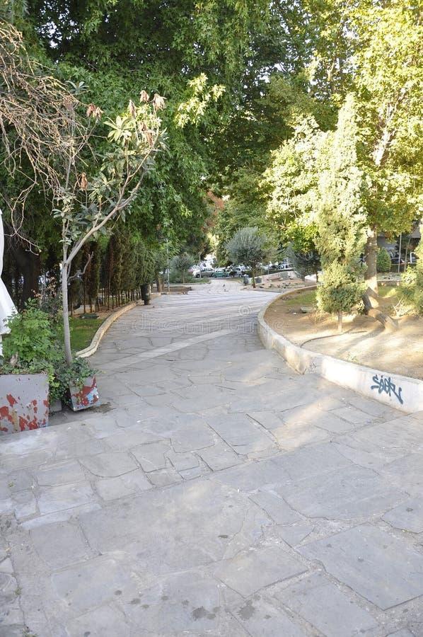Aleja w parku od Saloniki kapitału Macedonia w Grecja zdjęcie royalty free