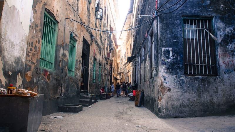 Aleja w Stonetown, Zanzibar fotografia royalty free