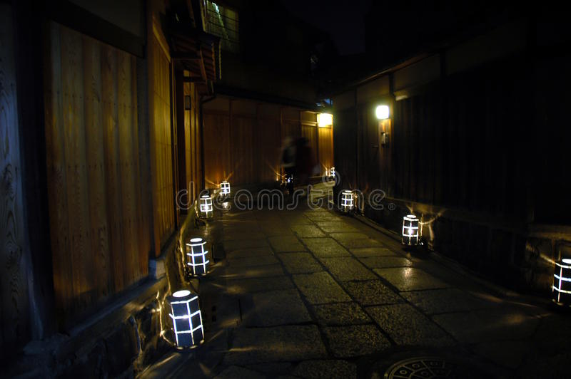 Aleja z lampionami zdjęcie stock