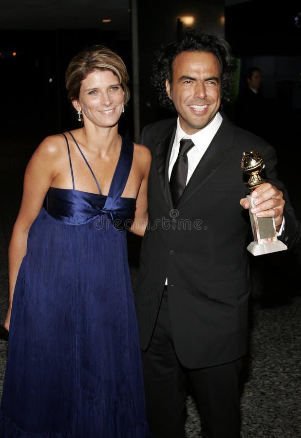 Alejandro Gonzalez Inarritu et Maria Eladia Hagerman photographie stock