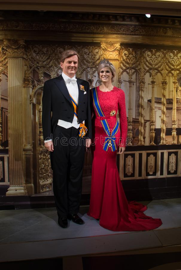 Aleksander i królowej MÃ ¡ xima holandie obrazy stock