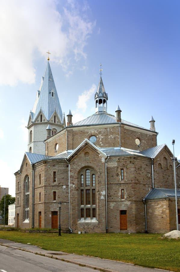 Aleksander Luterański kościół w Narva, Estonia obrazy royalty free