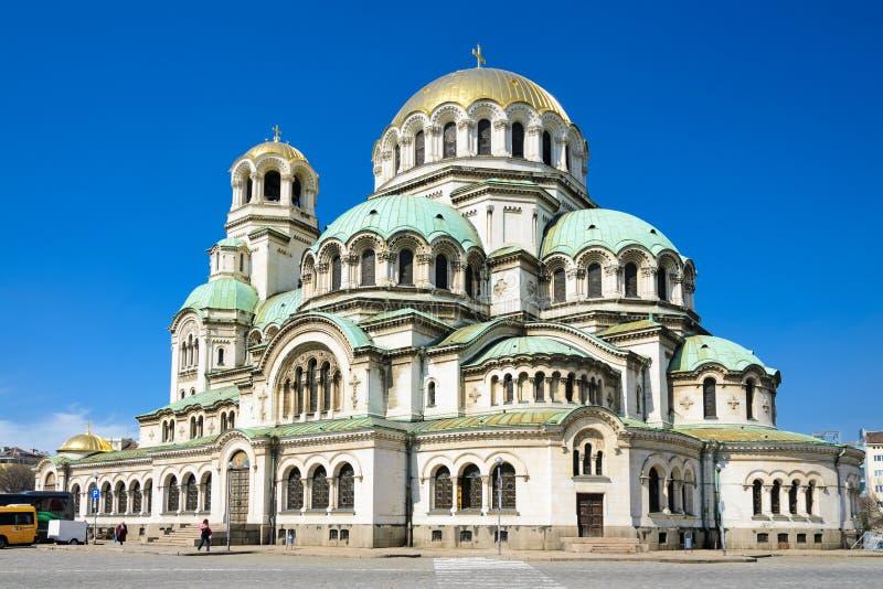 Aleksander Nevski cathedral. Against clear blue sky, Sofia, Bulgaria stock photos