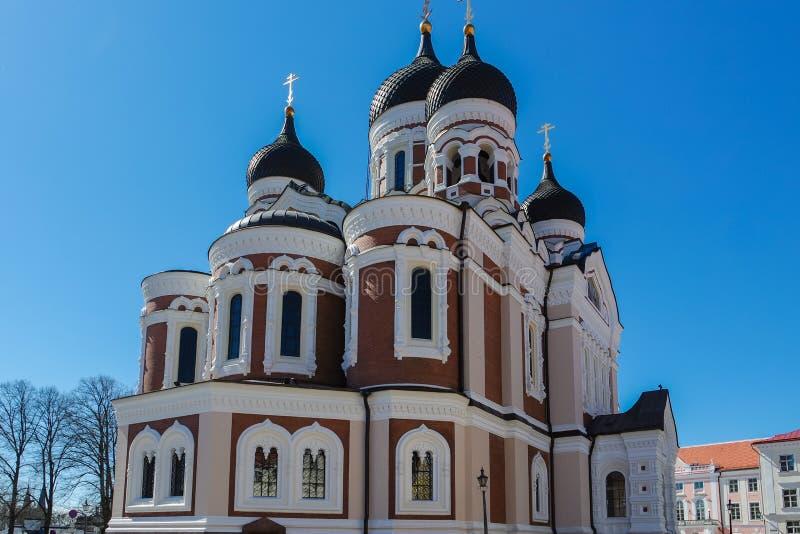 Aleksander Nevski katedraal in Tallinn stock photos