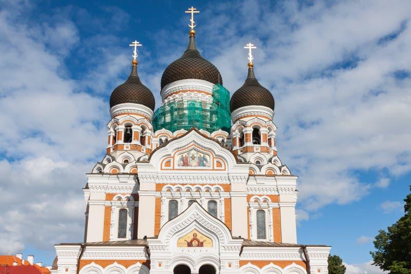 Aleksander Nevsky katedra. Tallinn, Estonia fotografia royalty free