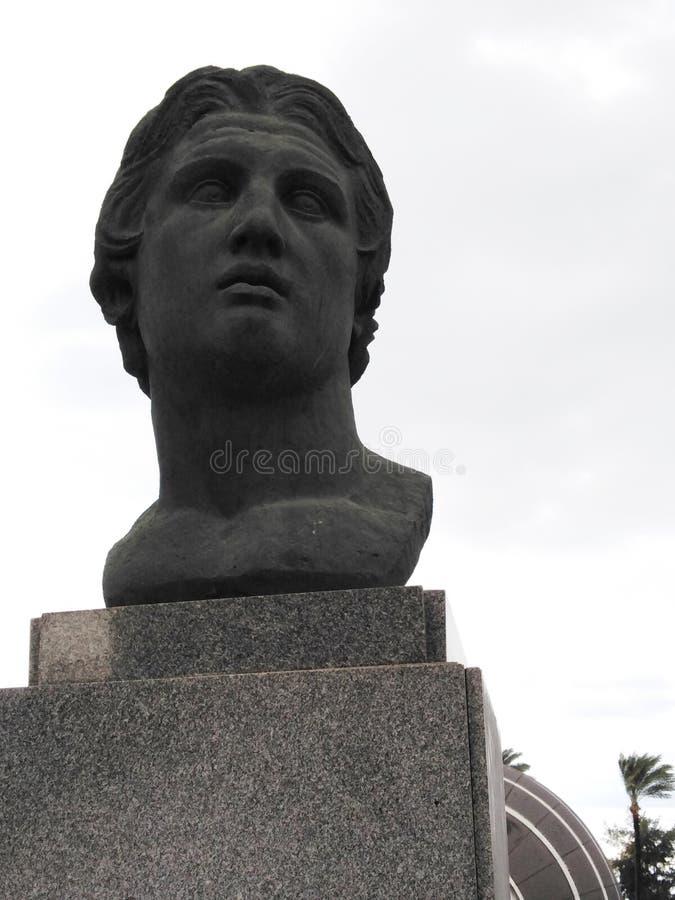 Aleksander Wielka statua, Aleksandria, Egipt obrazy stock
