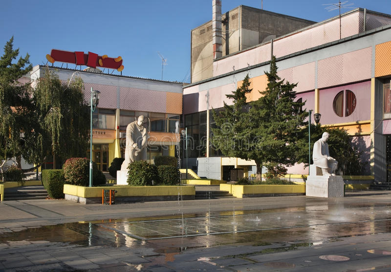 Aleksandria kwadrat w Prilep macedonia obrazy royalty free