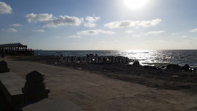 Aleksandria plaża zdjęcia royalty free