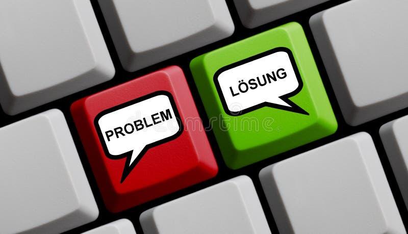 Alemán del problema y de la solución - teclado de ordenador fotografía de archivo libre de regalías