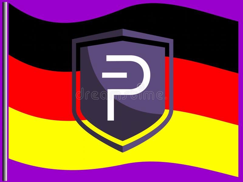 Alemán Pivians que apoya Pivx ilustración del vector
