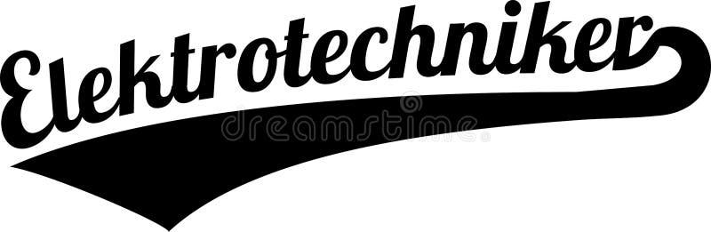 Alemán retro del ingeniero eléctrico ilustración del vector