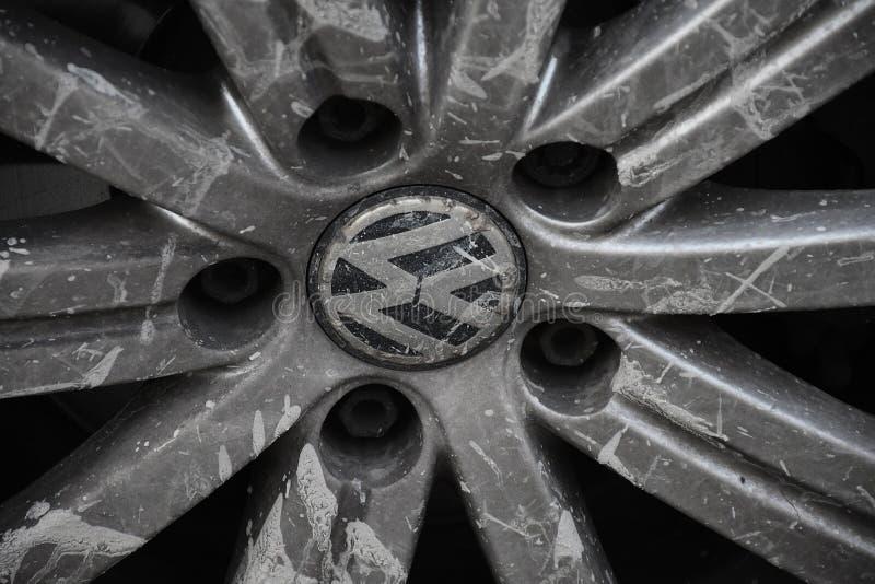 ALEMÁN VW AUTO EN COPENHAGUE DINAMARCA imagenes de archivo