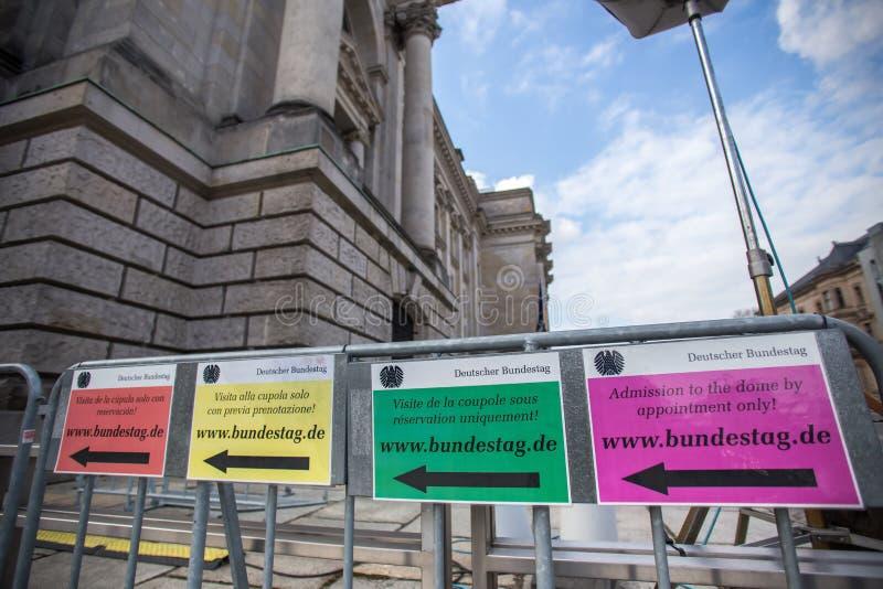 Alemão Bundestag em Berlim foto de stock royalty free