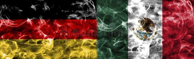 Alemanha contra a bandeira do fumo de México, grupo F, campeonato do mundo 2 do futebol do Fifa ilustração do vetor