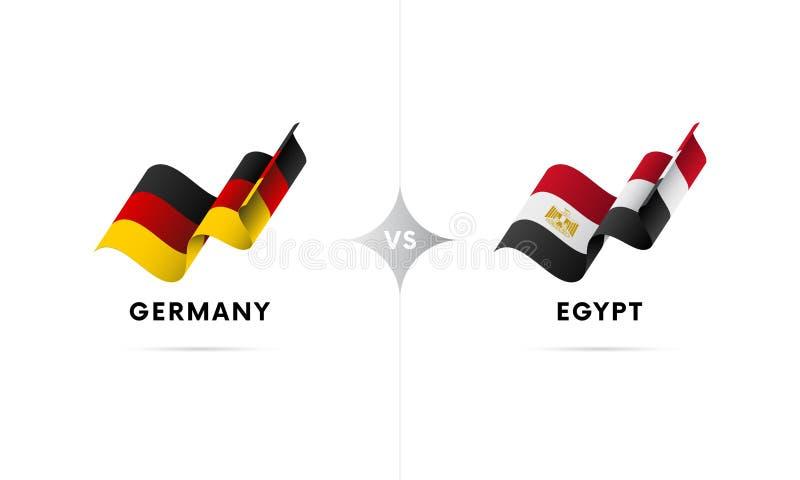 Alemanha contra Egito Futebol Ilustração do vetor ilustração do vetor