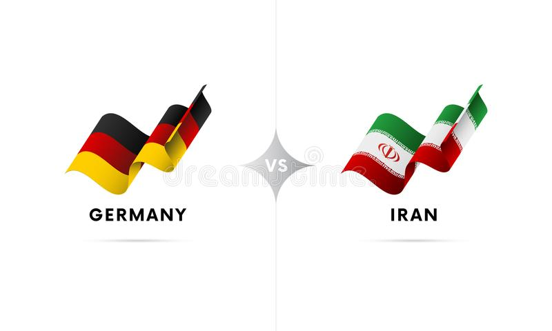 Alemanha contra Irã Futebol Ilustração do vetor ilustração stock