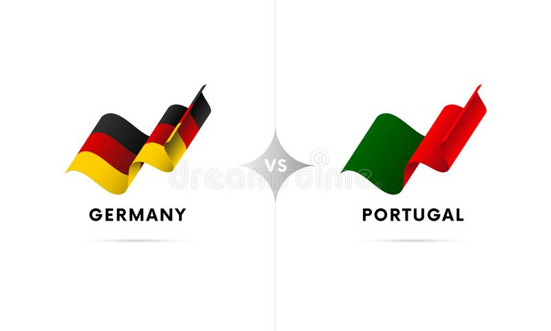 Alemanha contra Portugal Futebol Ilustração do vetor ilustração stock