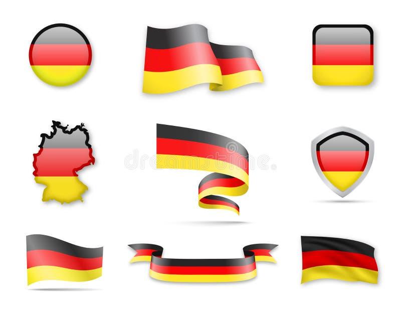 Alemanha embandeira a coleção ilustração royalty free