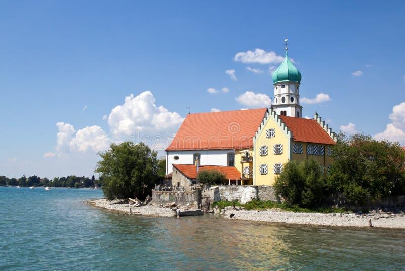 Alemanha, península Wasserburg pelo lago Constance, foto de stock