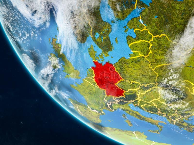 Alemania del espacio en la tierra stock de ilustración