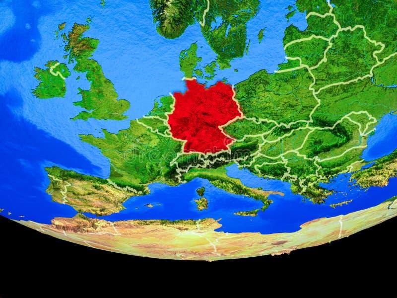 Alemania del espacio en la tierra ilustración del vector