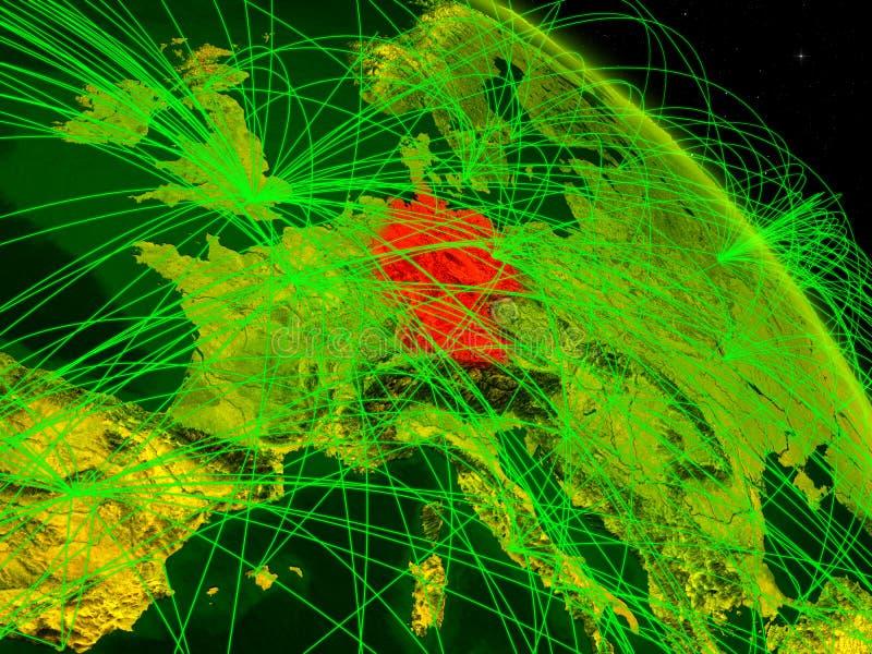 Alemania en el globo digital stock de ilustración