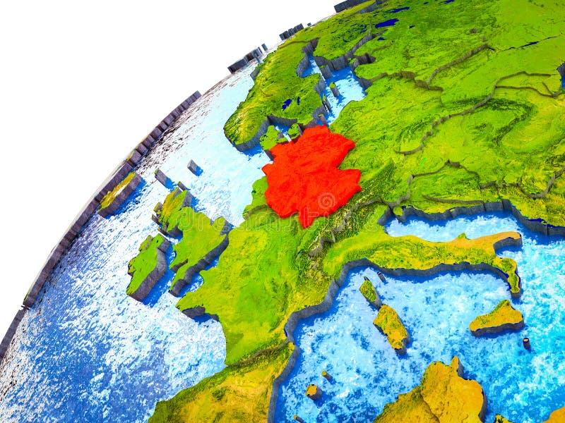 Alemania en la tierra 3D stock de ilustración
