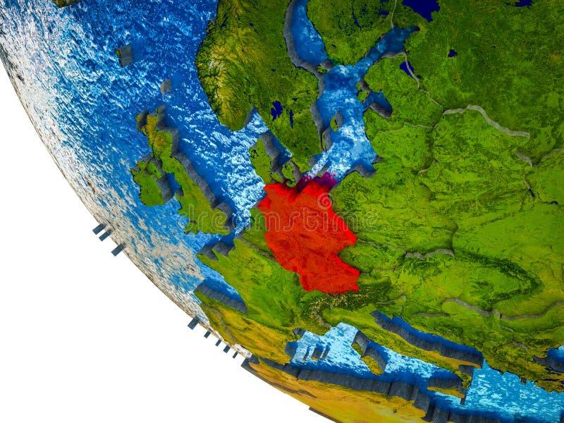 Alemania en la tierra 3D ilustración del vector