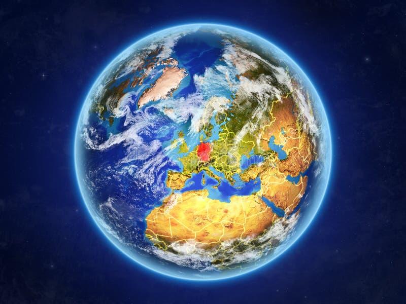 Alemania en la tierra del espacio ilustración del vector
