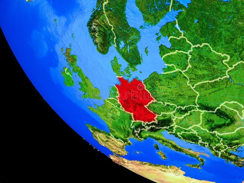 Alemania en la tierra del espacio libre illustration