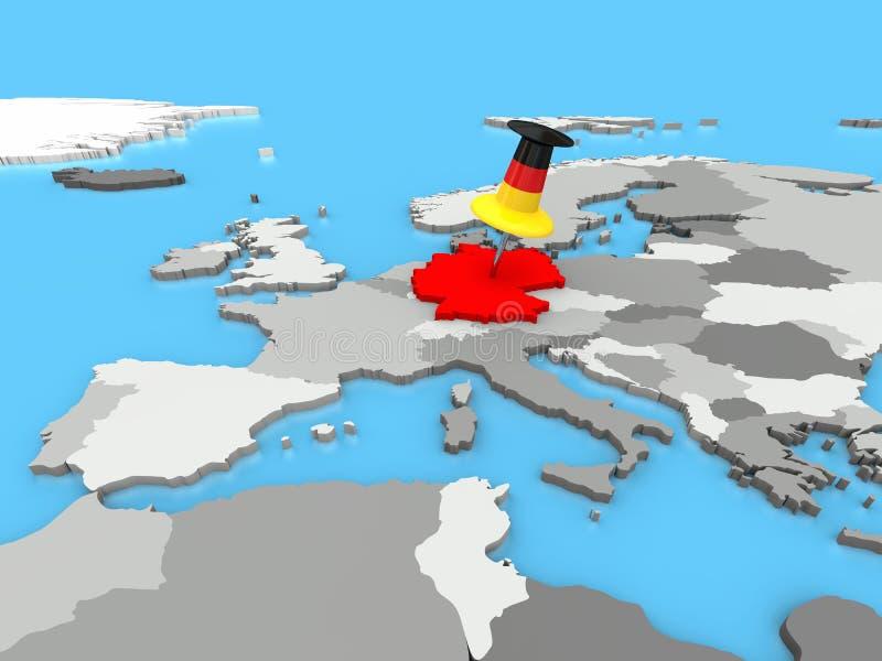 Download Alemania Fijó Al Mapa De Europa Stock de ilustración - Ilustración de continente, alemania: 42434355