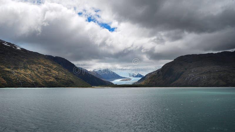 Alemania glacier. Glacier alley, Chile royalty free stock photos