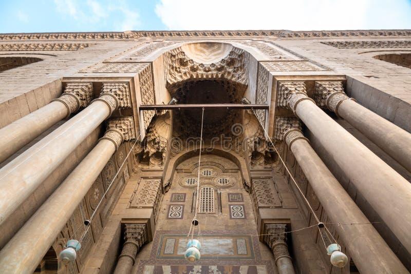 Alen-Rifa ?I och Sultan Hassan f?r tv? mosk?er i Kairo Egypten arkivfoton