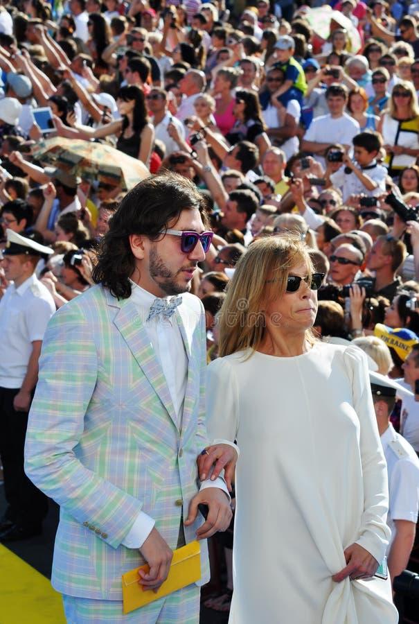 Alena Doletskaya e Mikhail Druyan foto de stock