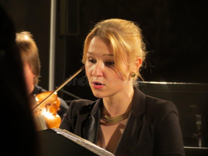 Alena Macova (soprano) royalty free stock photos