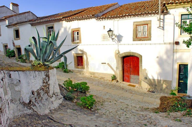 alentejo地区房子marvao典型的葡萄牙 免版税库存照片