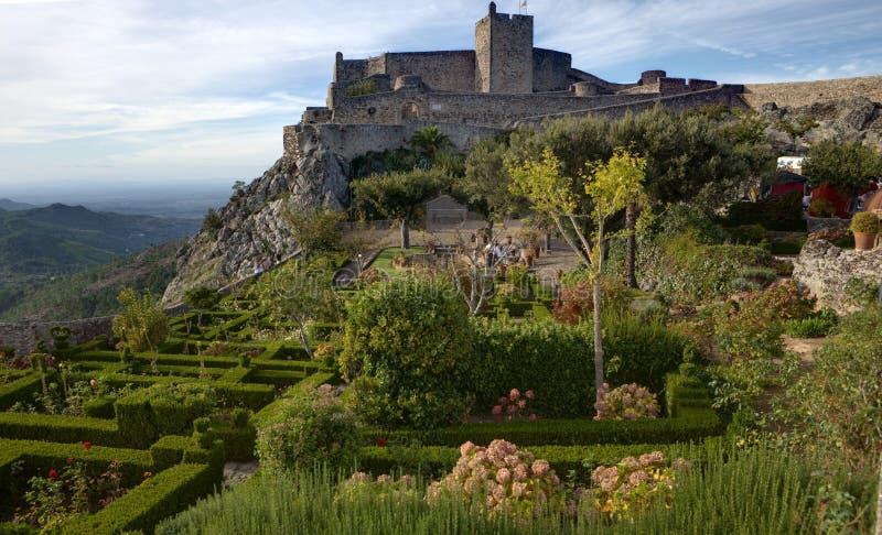 alentejo城堡marvao pictoresque葡萄牙小的村庄 免版税库存照片