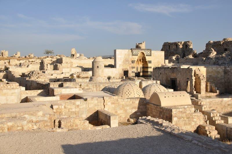 aleppo citadel royaltyfria foton