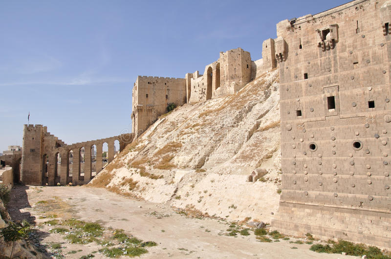 Aleppo Citadel, Syria royalty free stock images