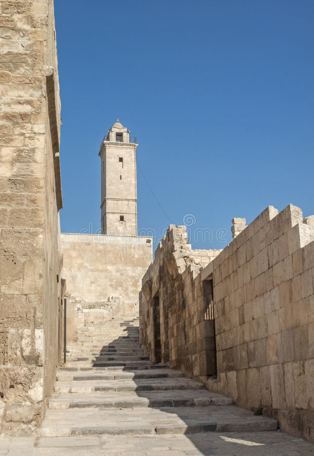 Download Aleppo citadel in syria stock image. Image of attraction - 26649729