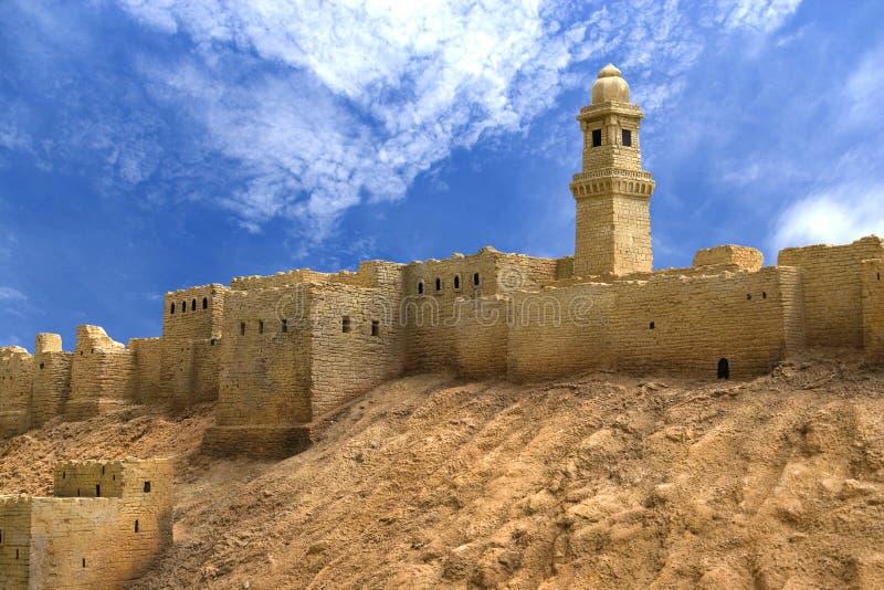 aleppo citadel syria royaltyfri foto