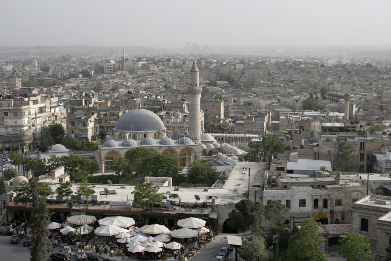 Aleppo de acima, Syria fotografia de stock