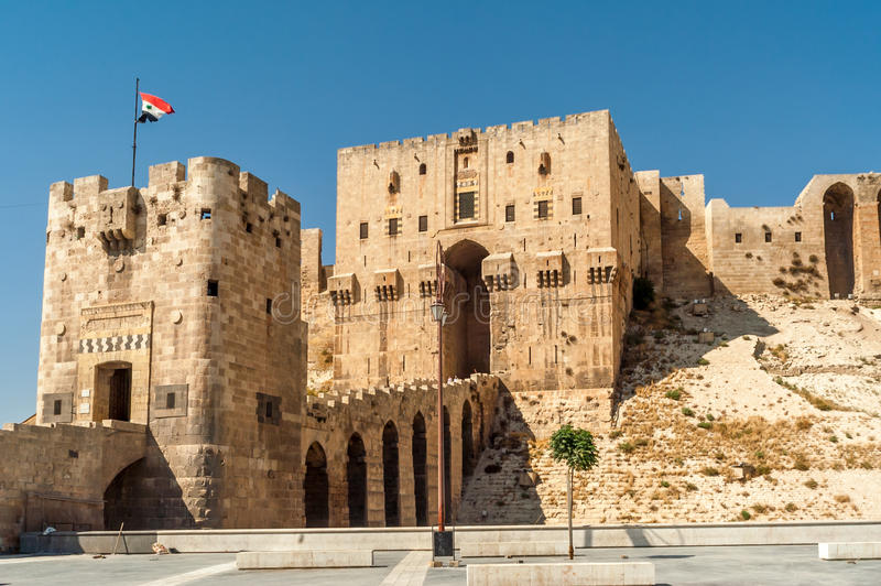 Aleppo-Zitadelle stockfoto