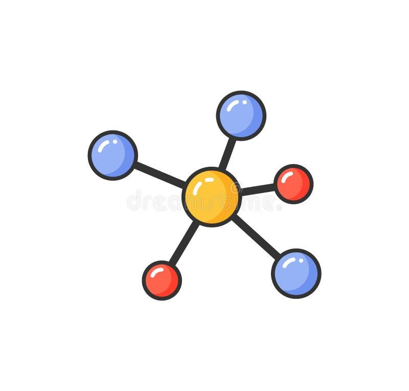 Alergia causada pela pilha minúscula, estrutura molecular ilustração stock