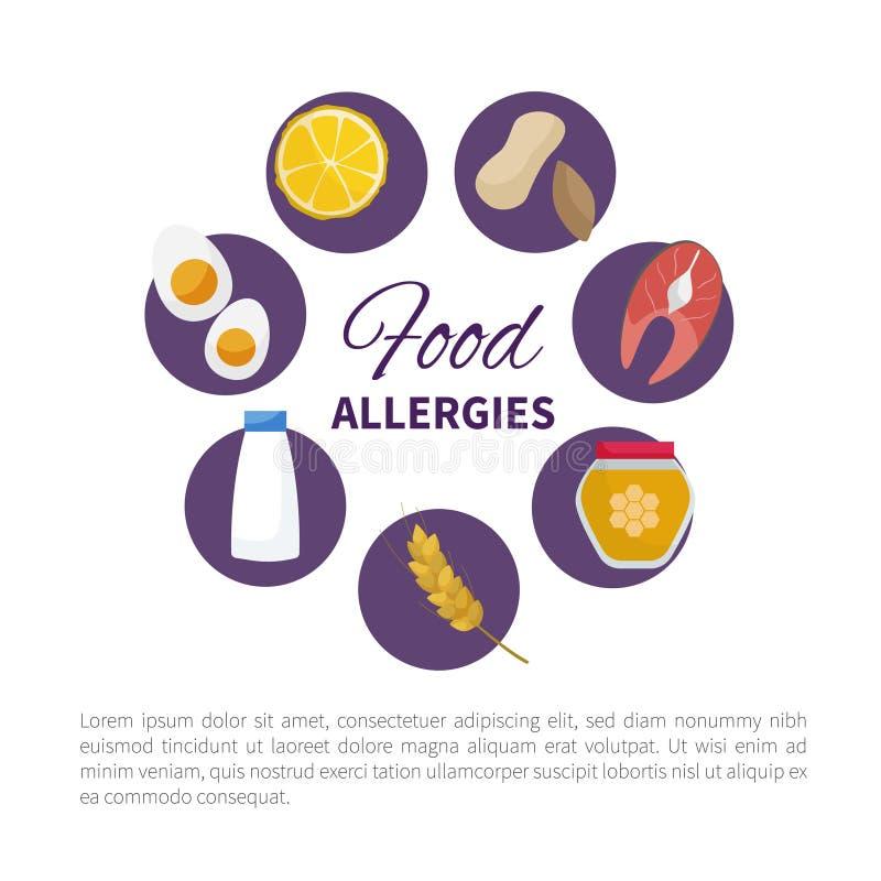 Alergia de alimento Vetor ilustração royalty free