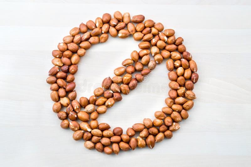 Alergia del cacahuete Pare, prohibida, prohibida y prohibida muestra imágenes de archivo libres de regalías