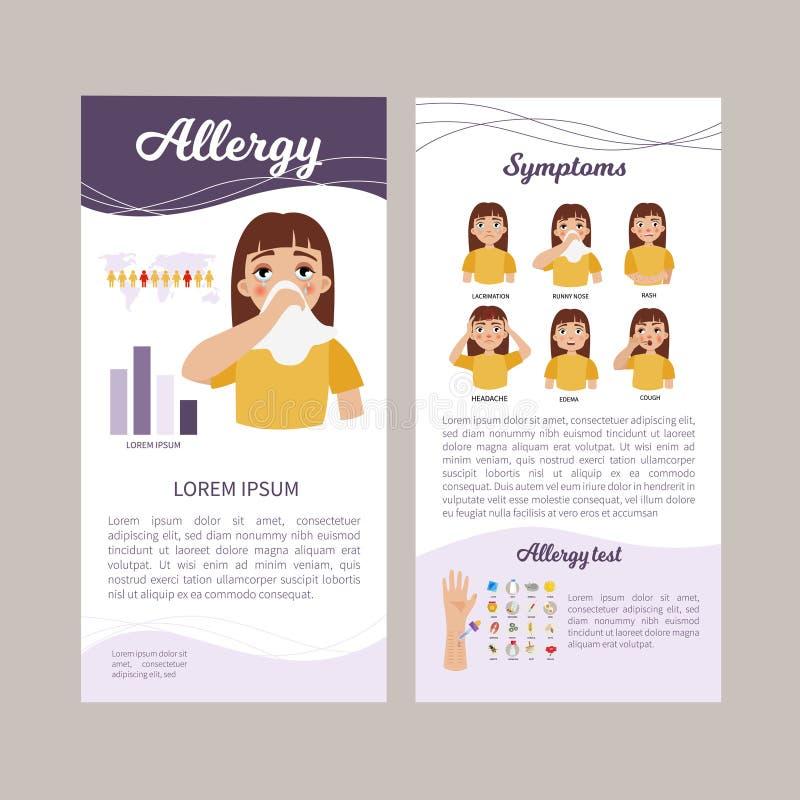 Alergia infographic ilustração stock