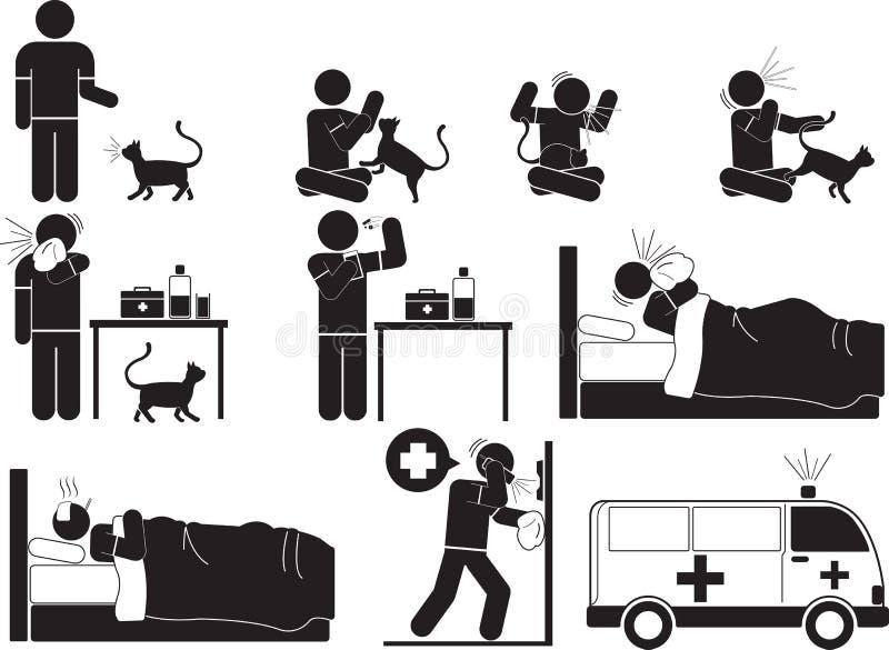 Alergia kot royalty ilustracja