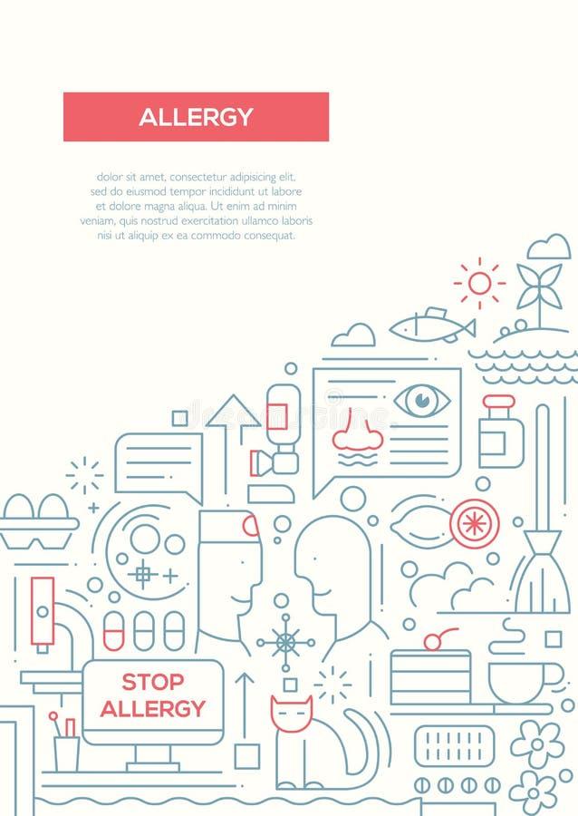 Alergia - kreskowej projekt broszurki plakatowy szablon A4 ilustracji